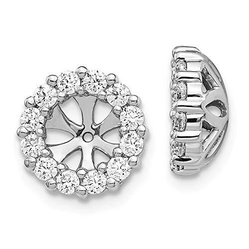 Pendientes de diamantes de oro blanco de 10 mm y 14 quilates para mujer