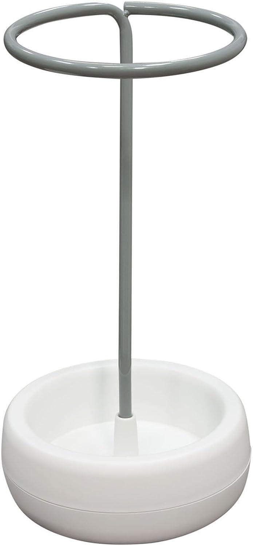 Diamond Sofa Gigi Grey Metal White Polypropylene (PP) Base Umbrella Holder Stand