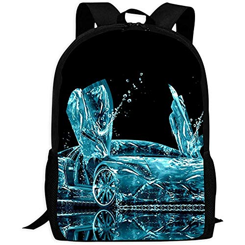 Student Backpack,Abstract Water Lam-Borghini Eye-Catching Children Bookbags For Sporting Hiking Athletic