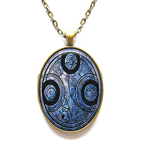 Colgante de cristal con sello de señor del tiempo, joyería del señor del tiempo, colgante de la cúpula de cristal del señor del tiempo. N352