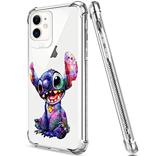 DISNEY COLLECTION iPhone 11 Case 2019 6.1 Inch Style Stitch Soft Flexible TPU Ultra-Thin Shockproof Transparent Bumper Protective Cover Case