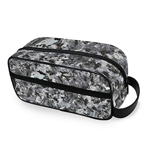 Outils Cosmétique Train Case Art Camouflage Marbre Noir Mignon Trousse De Toilette De Stockage Portable Maquillage Sac Voyage