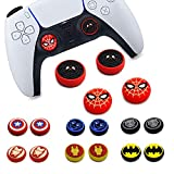 4Pcs Analog Thumb Grip Stick Cover, Dualsense Wireless Controllers Game Remote Joystick Cap, Fantastic Non-Slip Silicone Handle Protection Cover for PS5/PS4/Xbox one/360/NS PRO