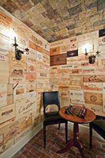 wooden wine panels