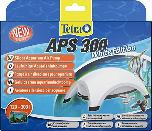 Tetra APS300 Stille Aquarium Luchtpomp, 120-300 Litre, Kleur: wit