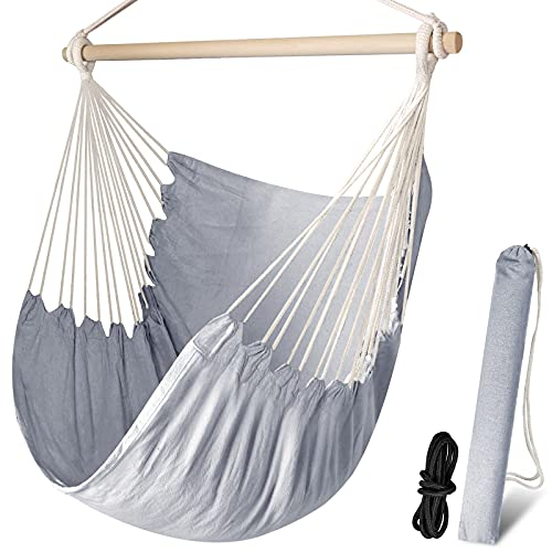 Chihee Hammock Chair Large Hammock Chair Relax Hanging Swing Chair Cotton Weave...
