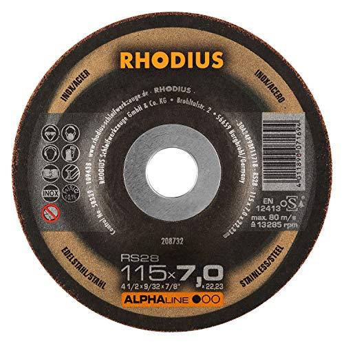 RHODIUS INOX Schruppscheiben RS28 Made in Germany Ø 115 mm für Winkelschleifer Schleifscheibe 5 Stück