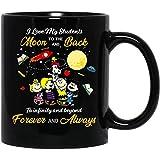 N\A #Snoopy #Charlie Brown I Love My Students to The Moon And Back Divertente Tazza da caffè per Donne e Uomini Tazze da tè