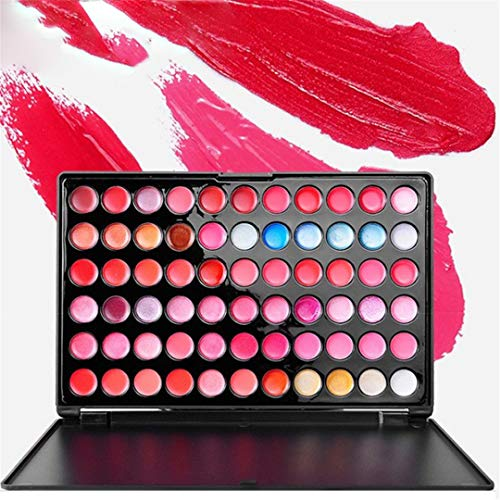 FantasyDay Professionelle 88 Farben Lip Gloss Palette Makeup Kit - Ideal für Sowohl den...