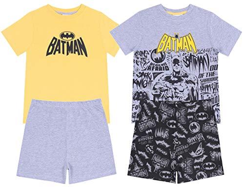 Batman -:- DC COMICS 2X Gelb-Grauer Pyjama 7-8 Jahre 128 cm