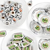 Woodland Creatures - Mini Candy Bar Wrappers, Round Candy Stickers and Circle Stickers - Baby Shower or Birthday Party Candy Favor Sticker Kit - 304 Pieces