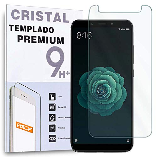 REY Protector de Pantalla para XIAOMI Mi A2 / Mi 6X / MiA2 / Mi6x, Cristal Vidrio Templado Premium
