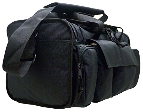 Ways Up R21-BK Gun Range Bag, Tactical Shooting Range Bag for Pistols with Divider and Pistol Pouch Included (Balck)