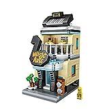Xpixel Mini Avenue Blocks - Tienda de Instrumentos Musicales - Juguete de Construcción - Bloques Tamaño Mini - Construye tu Propia Mini Avenida