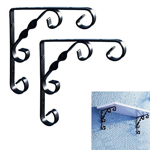 Brackets Retro Dreieckhalterung 2× Wandhalterungen Aus Schmiedeeisen Rechtwinkliger Schwimmender Regalhalterung Schwarz/Weiß