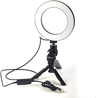 3 Pcs Kit of Photo Studio Table Top Ring Fill Light, Small Ball Nebula and Stander for Beauty Selfie and Soft Box Photography