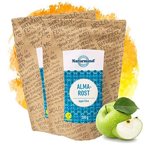 Naturmind Apfelfaser 2x200g | Natürlicher Ballaststoff | Glutenfrei Apfelmehl | Apfel Faser | Ballaststoffreich | Vegan | Rohkostqualität | Ideal für Brot & Backwaren mit längerer Frische