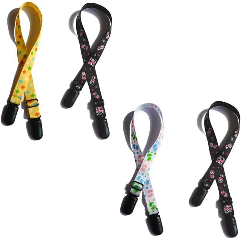 4 pinzas ajustables para servilletas, sujetadores para cierre de babero, pinzas para toallas, servilleteros, cordón, correa para el cuello para bebés, niños, adultos y ancianos