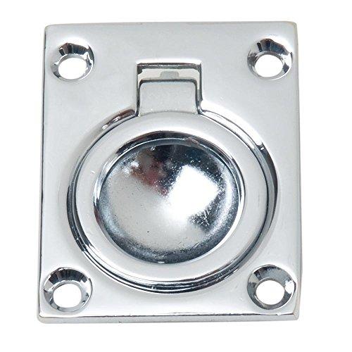 Perko Flush tirador de anilla–cromo chapado en Zinc