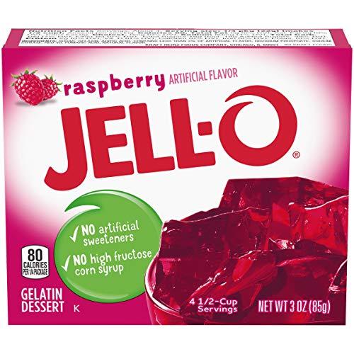 Jell-O Raspberry Gelatin Mix (3 oz Box)