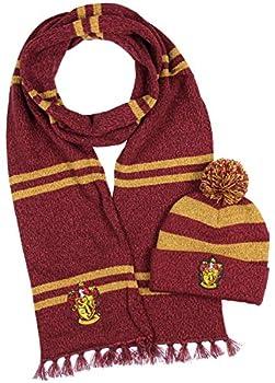 Harry Potter Hogwarts Houses Knit Gryffindor Scarf & Pom Beanie Set  Gyffindor