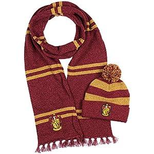 Harry Potter Hogwarts Casas tejer Bufanda Gryffindor & Pom Beanie (Gryffindor) 8