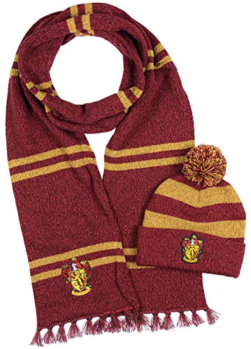 Harry Potter fans winter scarf and beanie set.