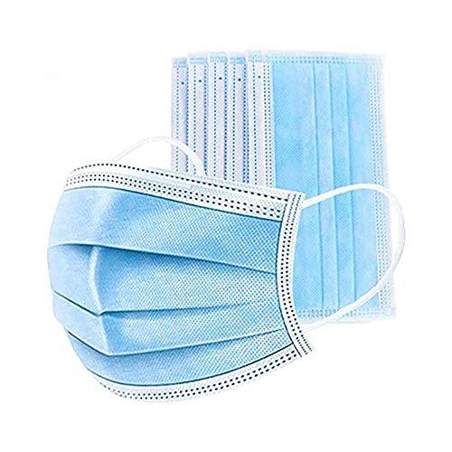 PINMINGTANG Strato Protettivo a 3 Strati per prevenire Polvere e Gocce Nell'Aria, Confezione Protettiva monouso, 50 Pezzi per Confezione