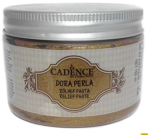Cadence Pasta Relieve Dora Oro Antiguo 150ml Ref. DR03