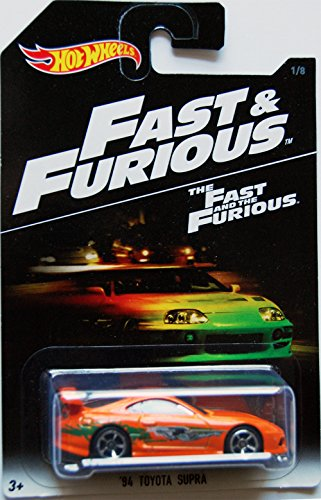 Hot Wheels 2016 Fast and Furious '94 Toyota Supra 1/8, Orange