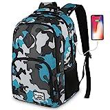 Schule Rucksack,Rucksack Jungs Laptop Rucksack mit USB-Ladeanschluss für Herren
