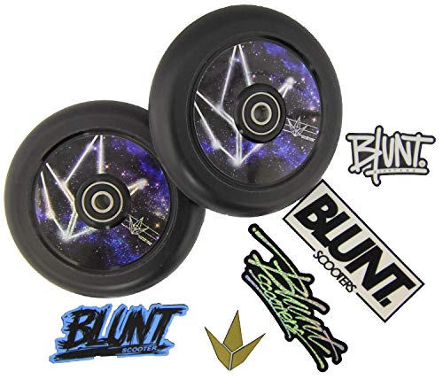 Blazer Pro Stunt-Scooter Hollow Core rollen 110 mm PU zwart Blunt Wheel sticker