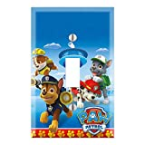 Single Toggle Wall Switch Cover Plate Décor Wallplate - Paw Patrol Marshall Chase Rubble Rocky