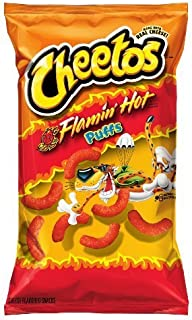 Flamin' Hot Puffs Cheese Flavored Snacks (Flamin' Hot, 8.5 oz) by Cheetos