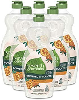 6 Pack Seventh Generation Dish Soap Liquid, 19 oz