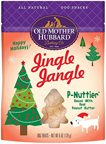 Old Mother Hubbard Natural Jingle Jangle P-Nuttier Treats, 6-Ounce Bag