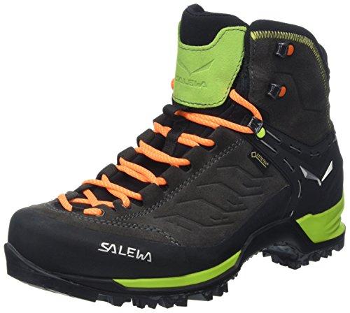 Salewa MS Mountain Trainer Mid Gore-TEX, Botas de Senderismo Hombre, Negro (Black/Sulphur Spring), 42 EU