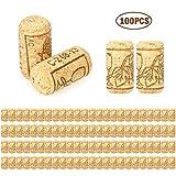 Leepesx 100pcs / Set Tappo di Bottiglia di Vino 40 * 21mm Set di 100pcs Tappo di Bottiglia di Vino Rosso Rovere Tappo di Bottiglia di Vino Rosso Quercia Vino Tappi