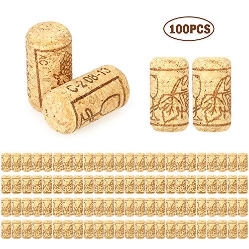 Bottle Stopper Wine Corks Flaschenkorken Weinkorken 40x21mm Eichenweinkorken für Hausgemachten Rotwein DIY Korkplatte Dartscheibe Schwarzes Brett Küche Backsplash (50/100 Teile)