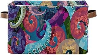 Doshine Panier de rangement pliable en forme de pieuvre de mer avec poignées Grand cube de rangement Panier à linge pour o...