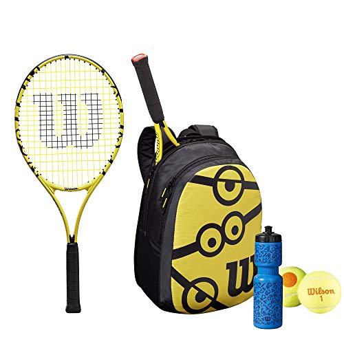 """Wilson Minions 25' Tennis Racket Set, Inc Backpack, Water bottle & Tennis Balls (25"""" Set)"""