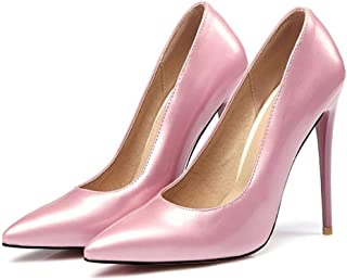 Casual Pointed High Heels For Banquet Wedding Dress Daily (Color : Pink, Size : 45)