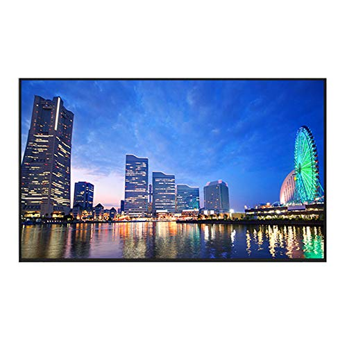 YILANJUN 32/42/46/55/60-Inch 4K Smart TV LCD HD Internet Television with Wall Mount and Base, Explosion-Proof High-Definition Eye Protection Blue-ray, Wi-Fi, for Kitchen Bedroom