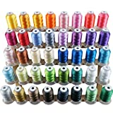 New brothread 40 Brother Colors Polyester Embroidery Machine Thread Kit 500M (550Y) Each Spool for...