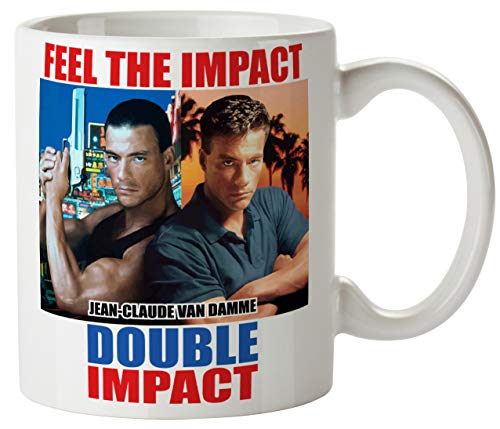Men's Double Impact Funny Mug 11oz Coffee Tea Novelty Mug Ceramic White 11 Ounce Great Gift Idea Meme Cup