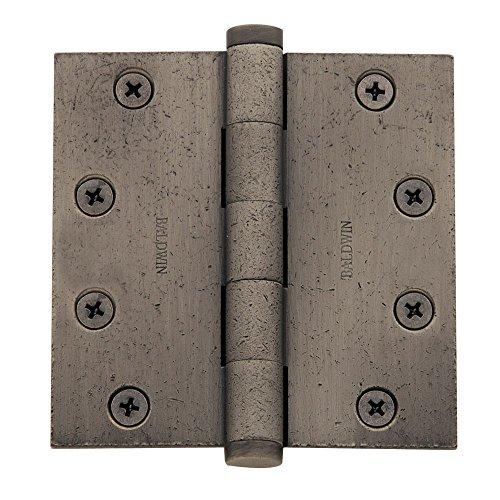 baldwin home furniture bearings Baldwin 1046452I Square Ball Bearing Mortise Hinge, Distressed Antique Nickel