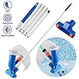 Becoyou Pool Vacuum Head Pool Vacuum Cleaner Kit, Mini Portable Vacuum Jet Cleaner Pool Cleaning Accessories with 5 Section Pole for Above Ground Pool Spas Ponds