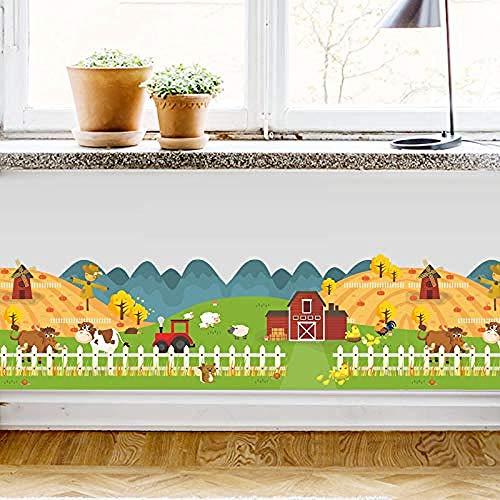 bloom Wandaufkleber Happy Farm Animal House Zaun für Kinderzimmer Wallpaper Decals Kinder Geschenk Poster Home Decor Decal Wandbild