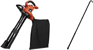 BLACK+DECKER 3-in-1 Electric Leaf Blower with Quick Connect Gutter Cleaner Attachment..