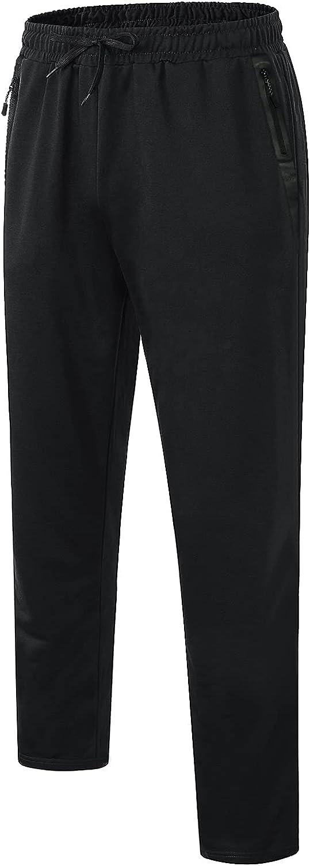 MeetHoo Pantalones Hombre Casuales Deporte Elásticos Suelto Joggers Largos Pants con Bolsillos Adecuado para Trotar, Deportes, Fitness